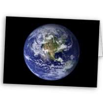 Earth ~ Planet Earth Western Hemisphere Greeting Card by caferetro