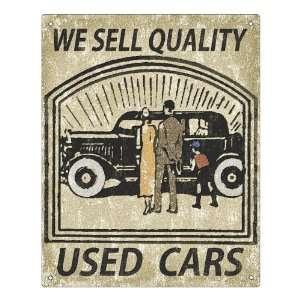 vintage Car lot Sign sales display quality used cars