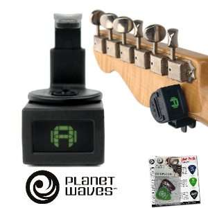 Planet Waves PW CT 12 NS Mini Headstock Tuner  360 degree