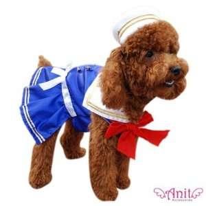 Sailor Girl Dog Costume Size: Medium (12   16 L): Pet