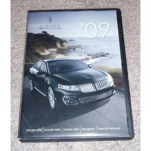 Lincoln MKS, MKX, MKZ, Navigator 2009 Product Training Sales Video DVD