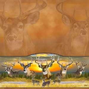 Deer Elk Moose 10 Point Buck 12 x 12 Paper Sports