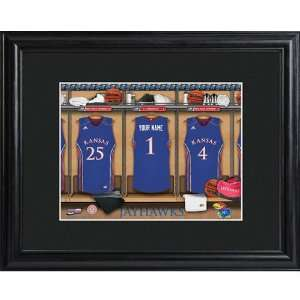 Kansas Jayhawks Personalized College Basketball Locker Room Print