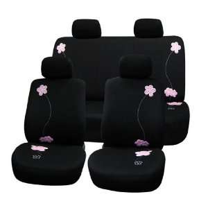 Car Seat Covers, Airbag Ready and Split Bnech, Black Color Automotive