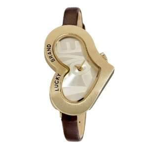 Lucky Brand Womens 161210CHBN Gold Tone Heart Shaped Love
