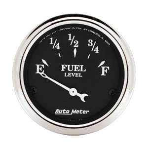 Auto Meter 1716 Old Tyme Black 2 1/16 Short Sweep Electric Fuel Level