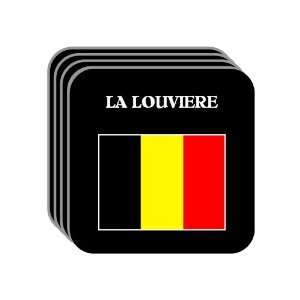 Belgium   LA LOUVIERE Set of 4 Mini Mousepad Coasters