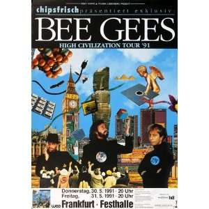 Bee Gees   High Civilization 1991   CONCERT   POSTER from