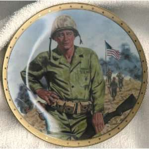 John Wayne Plate Symbol of Americas Fighting Forces Everything Else