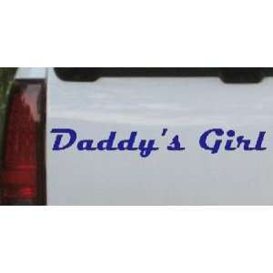 Blue 24in X 3.6in    Daddys Girl Girlie Car Window Wall Laptop Decal