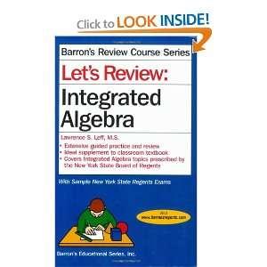 Integrated Algebra (9780764135910) Lawrence S. Leff M.S. Books