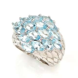 Valentine Jewelry Gift 925 Sterling Silver Genuine Blue Topaz Man Ring