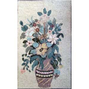 24x40 Flower Mosaic Art Tile Mural Wall Decor Everything