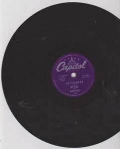 Les Paul Mary Ford Auctioneer 78rpm record