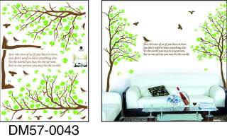 50*70cm Removable DIY DECOR DECAL VINVY ART Wall Stickers tree love