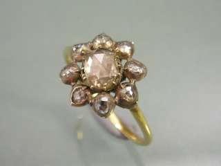 FINE LOOKING GEORGIAN SILVER GOLD DIAMOND STAR SHAPED RING UK SIZE K