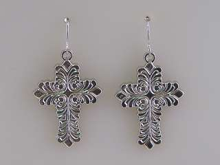 Green Brown Colored Cross Necklace Earrings Set s0268