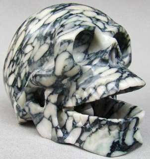 GIANT 8.5LB/7.5 Marble Skull/Skeleton Sculpture #0273