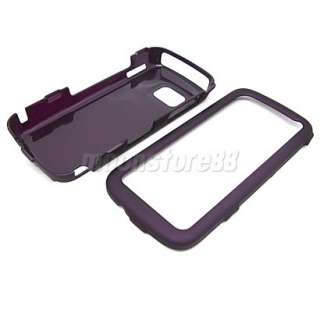 HARD RUBBER CASE COVER SCREEN FILM FR NOKIA 5230 PURPLE