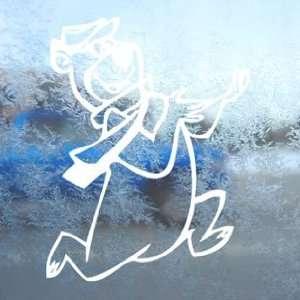 Yogi Bear Cartoon Character White Decal Window White