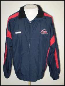 NHL Columbus Blue Jackets CCM Jacket Nylon Blue sz M