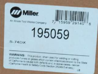 MILLER S 74DX MIG WELDER 24V WIRE FEEDER 195059 NEW