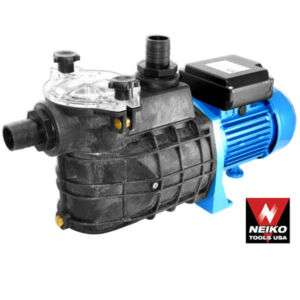 Neiko 1 1/2 1 HP Electric Water Pump Large Strainer