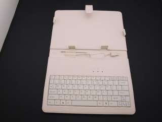 White Color Leather case mini Keyboard for 10 inch Tablet PC