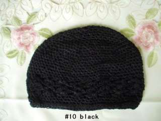 Baby toddler Infant crochet kufi beanie hats 5 or 10 pcs