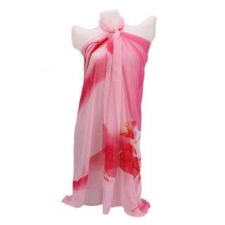 Lady Women Chiffon Scarf Attire Beach Cover Up dress