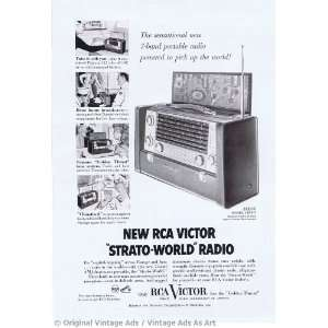 1954 RCA Victor Strato World Radio Vintage Ad: Everything Else