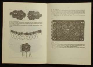 BOOK Poland Folk Jewelry CIESZYN silver ethnic costume antique Tesin
