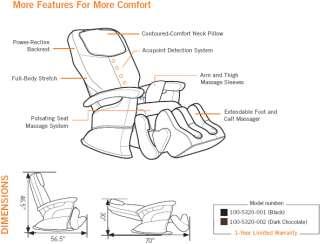 Human Touch HT 5320 Chocolate Massage Chair Recliner