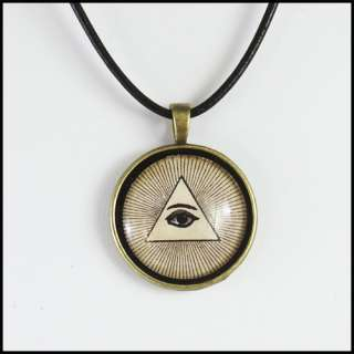 ILLUMINATI EYE OF PROVIDENCE necklace evil ALL SEEING