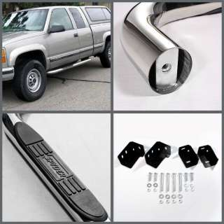 88 98 CHEVY GMC C10 C/K TRUCK 2DR EXT CAB 3 SIDE STEP NERF BAR