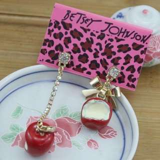 Johnson Lovely Cute Fashion costly Jewelry Lady RED Apple Earring Z10
