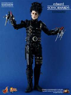 paper chain 12 inch figure stand with Edward Scissorhands nameplate