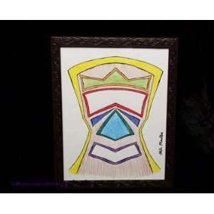 Colored Pencil Sketch Framed Art Mixed Media Drawing by Mike Mindless