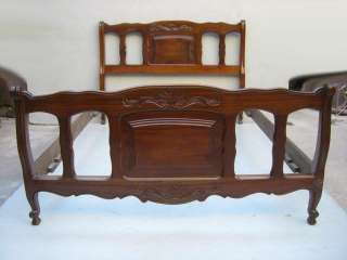 Great antique French Country walnut full bed # as/1236