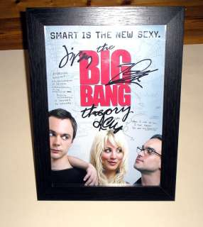 THE BIG BANG THEORY PP SIGNED & FRAMED 12X 8 POSTER