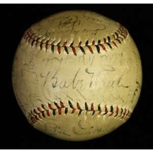 Babe Ruth, Lou Gehrig Signed Baseball Ball Psa/dna Sports