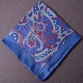 High Quality Four Styles 14 Twill 100% Silk Mens Square Pocket
