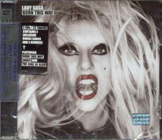 LADY GAGA, BORN THIS WAY + BONUS TRACK. CONTAINS 4 EXCLUSIVE BONUS