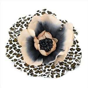 Brown Leopard Print Flower Hair Clip/Barrette AJ22318 Beauty