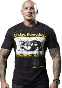 CONTRACT KILLER ALL DAY EVERYDAY JIU JITSU MMA SHIRT BLACK SMALL