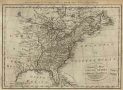 1780s North America Map British & Spanish territories