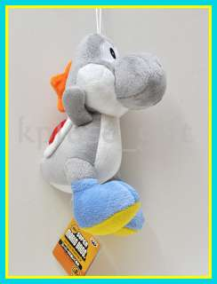 S71 Nintendo Super Mario Bros Yoshi 8 Plush Doll Grey