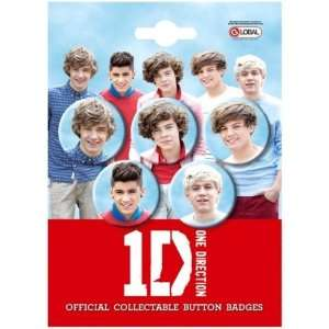 One Direction 5 Button Pin Badge Set 32mm (Official 1D