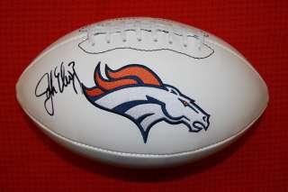 Autographed Denver Broncos Logo Football Hall of Fame   COA