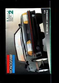 MONOGRAM 91 MUSTANG GT CONVERTIBLE 1:24 MODEL KIT MINT FACTORY SEALED
